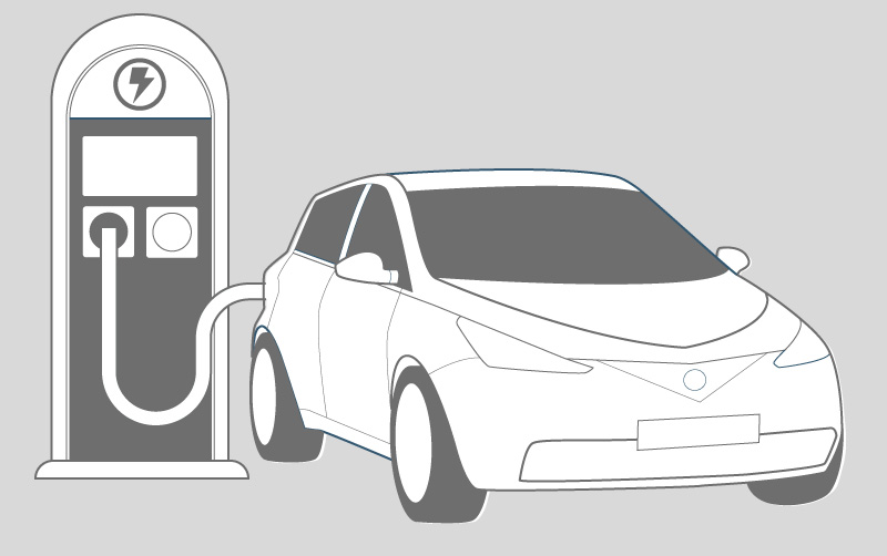 Electric Car and Charging device