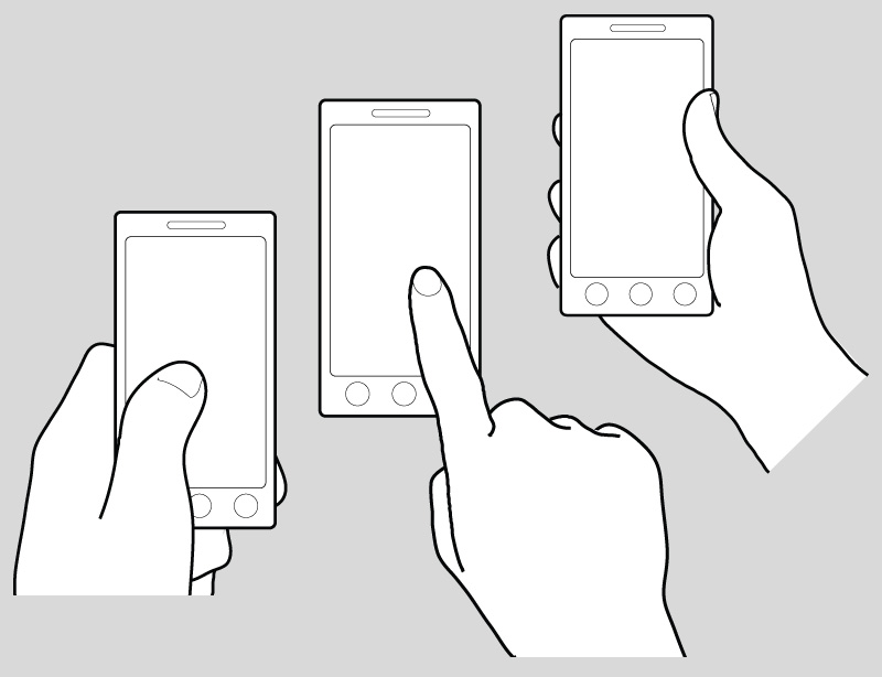 Hands Using a Mobile Phone