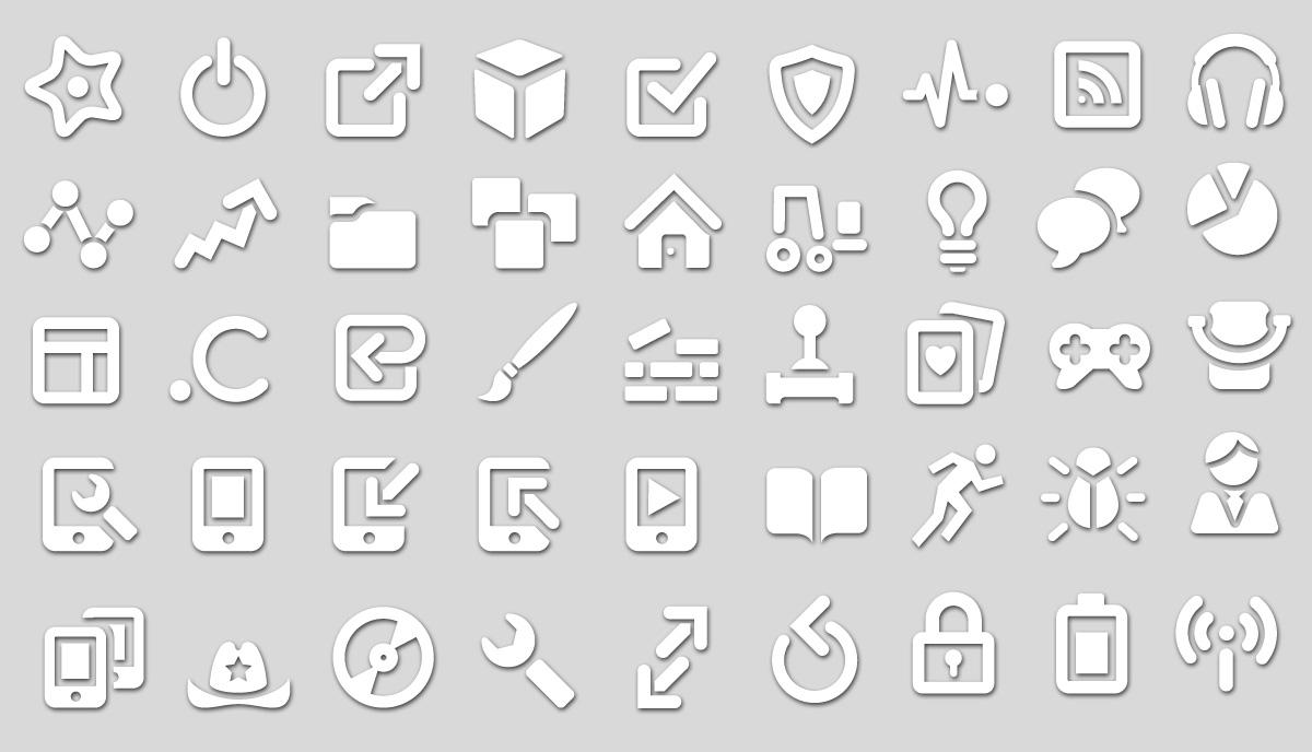 White Icon Set
