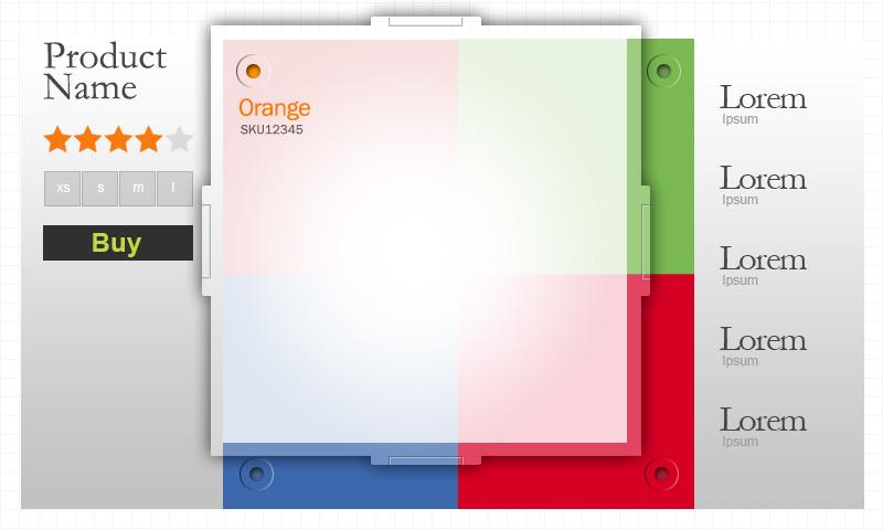 colorful mobile UI template