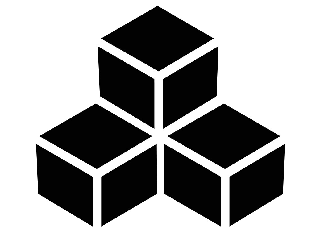 stacked cube vector