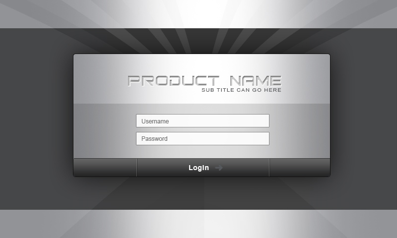 mobile login screen source file