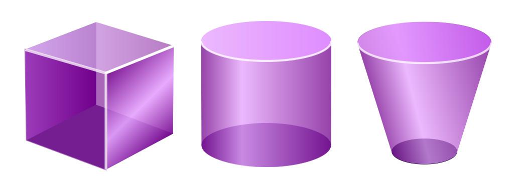 3d vector transparent shapes