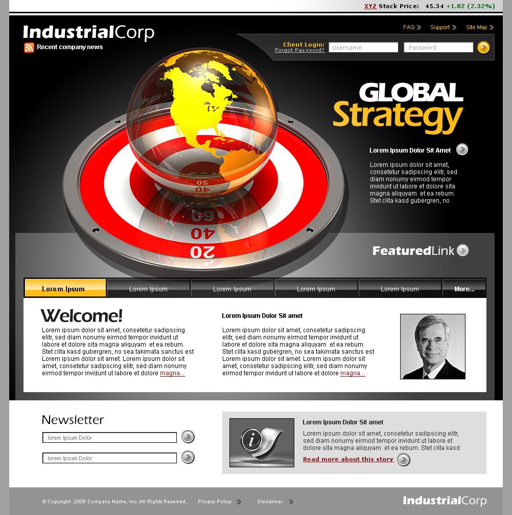business website template screenshot