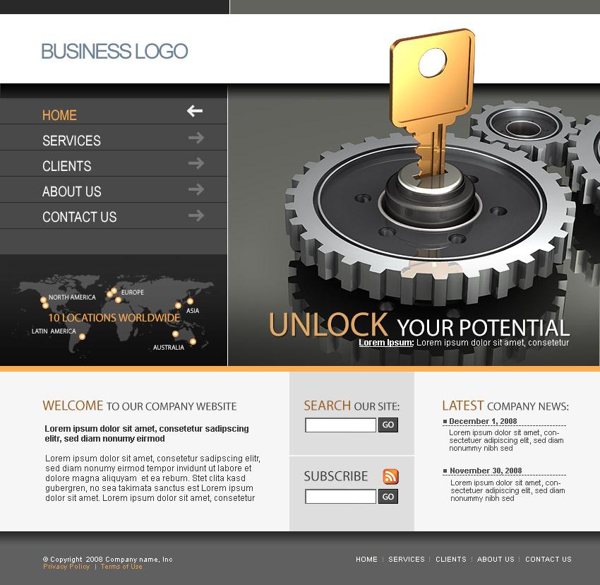 Web template screenshot