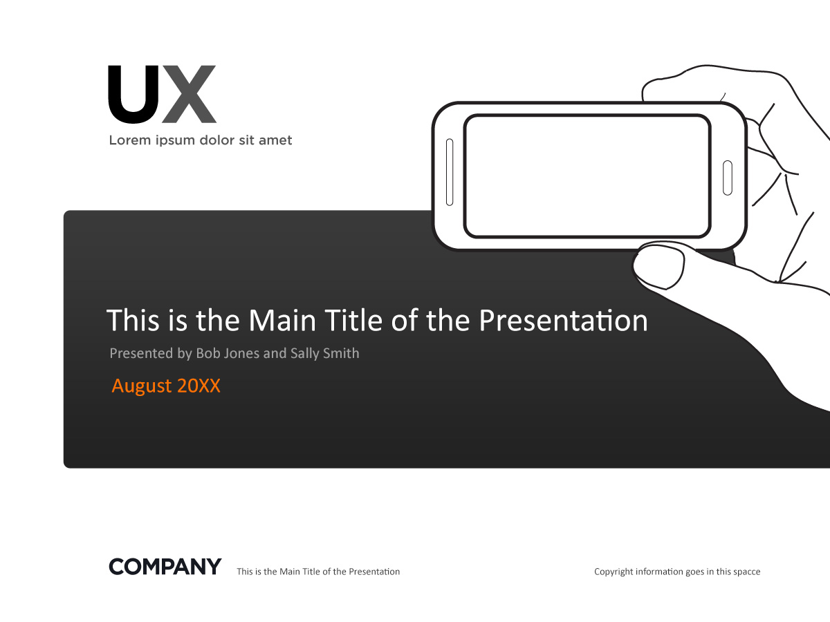 Mobile user experience presentation slide cover