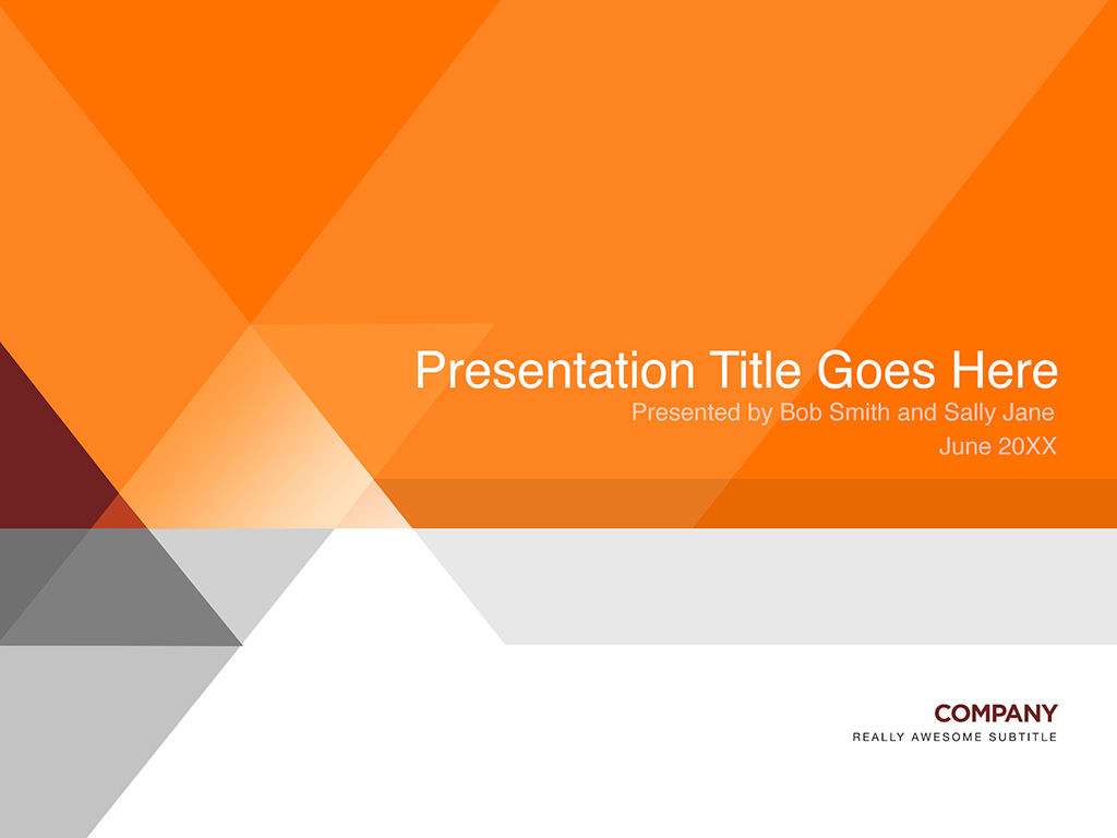 orange and gray presentation template