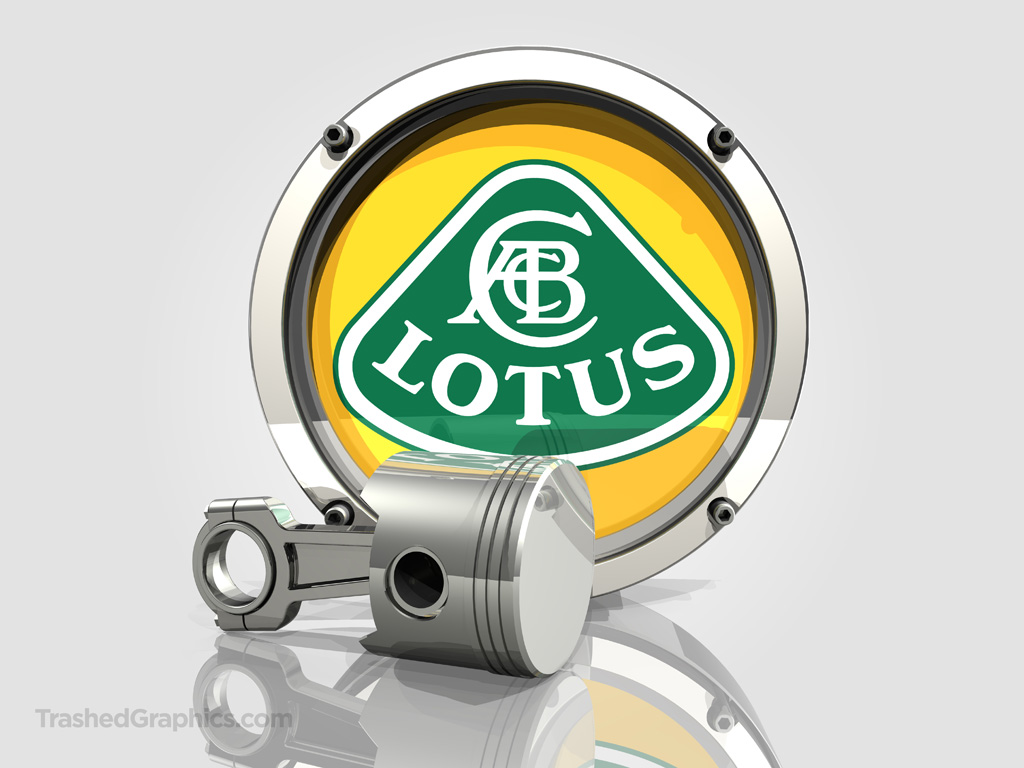 lotus logo and piston