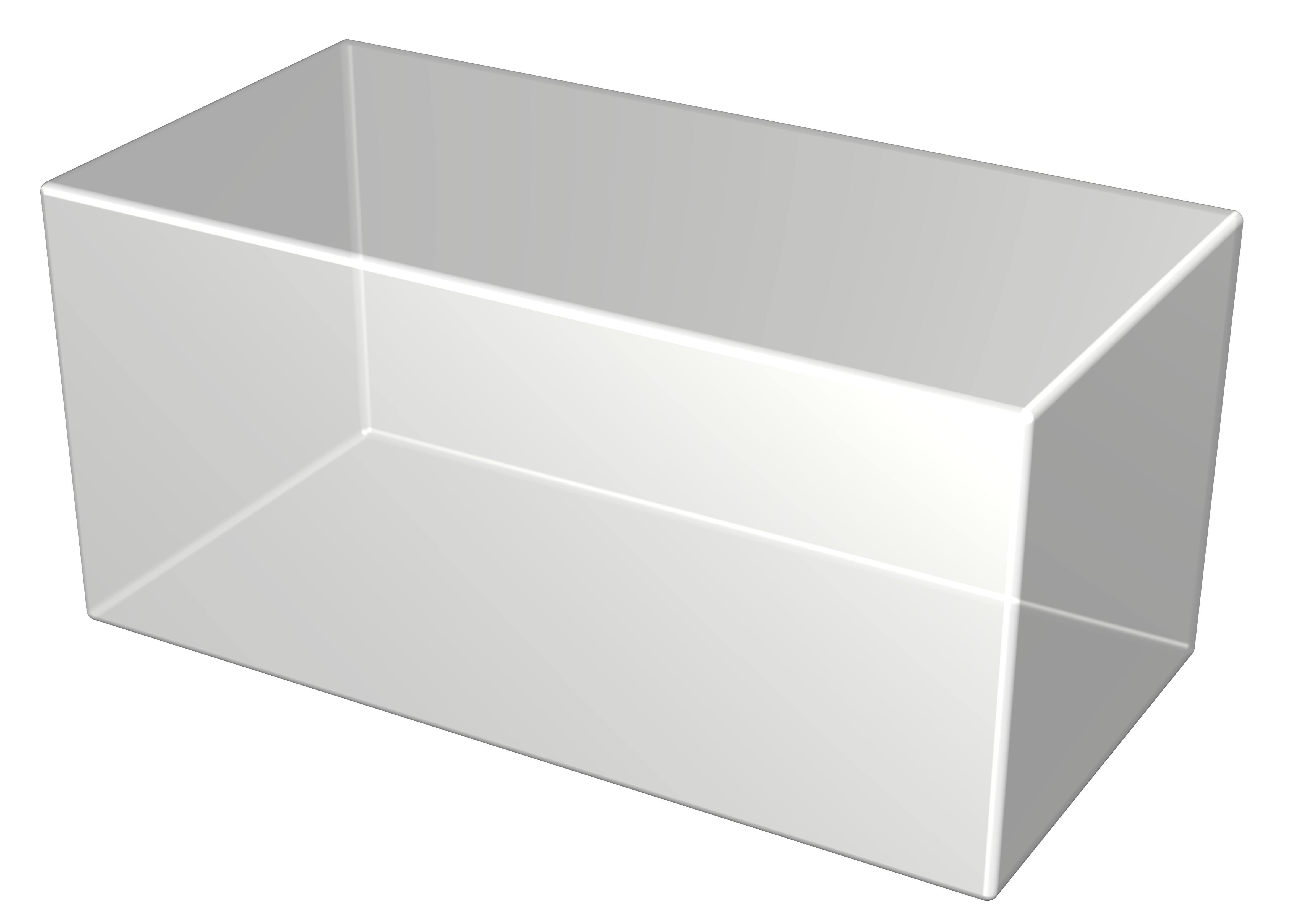 gray 3d rectangle with transparency