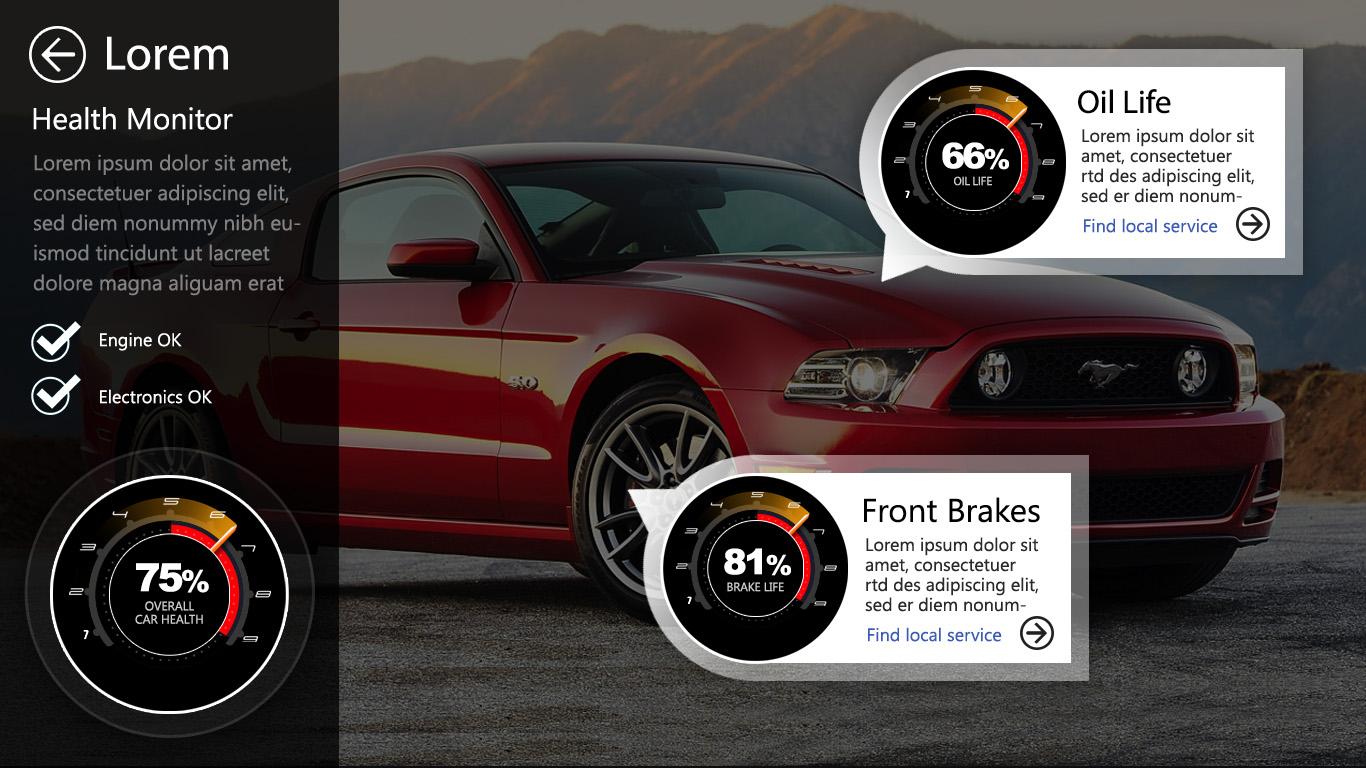 automotive ui elements
