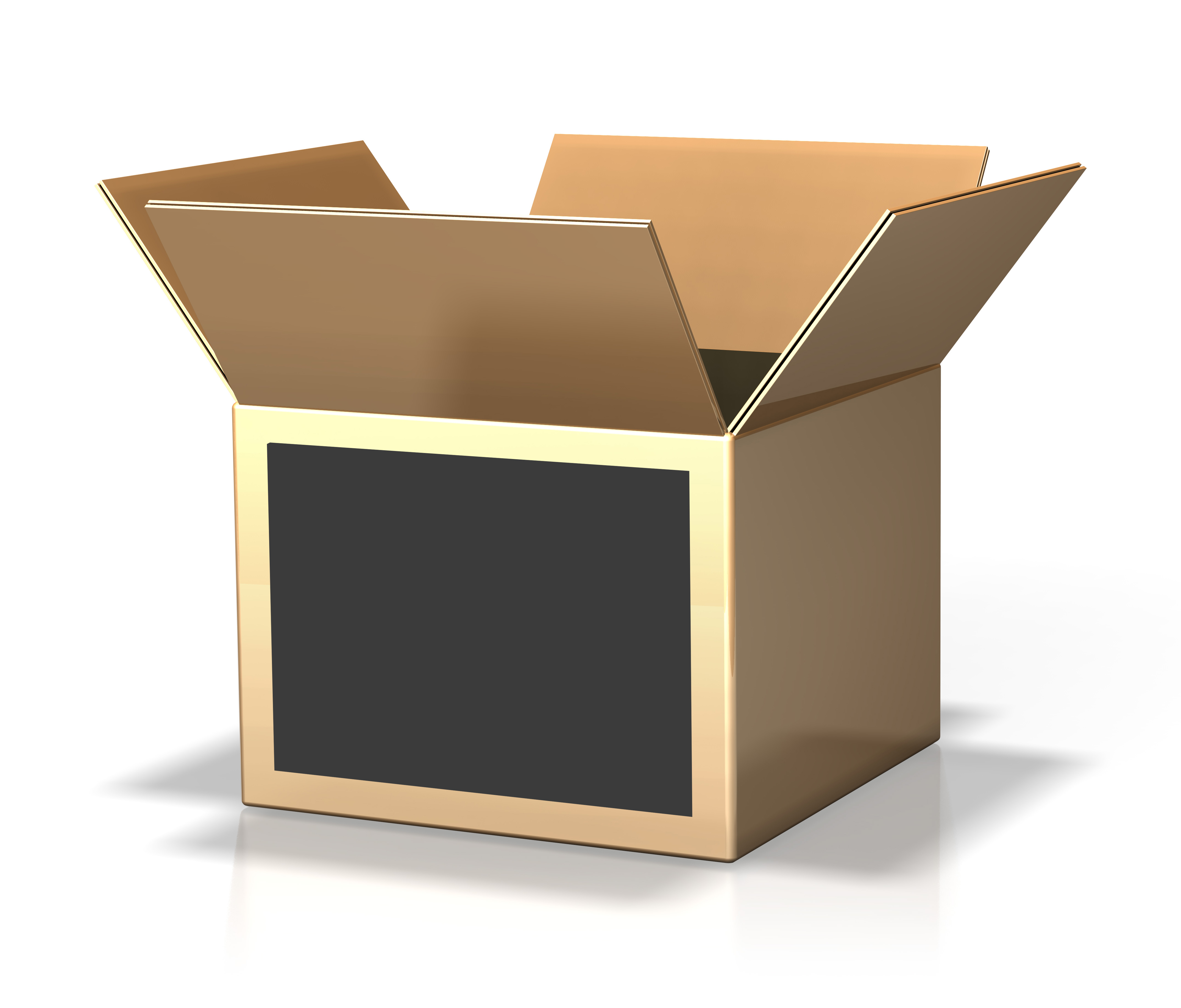 open cardboard box high res