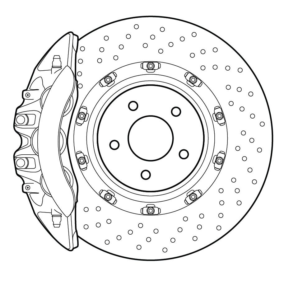 vector disc brake rotor and caliper