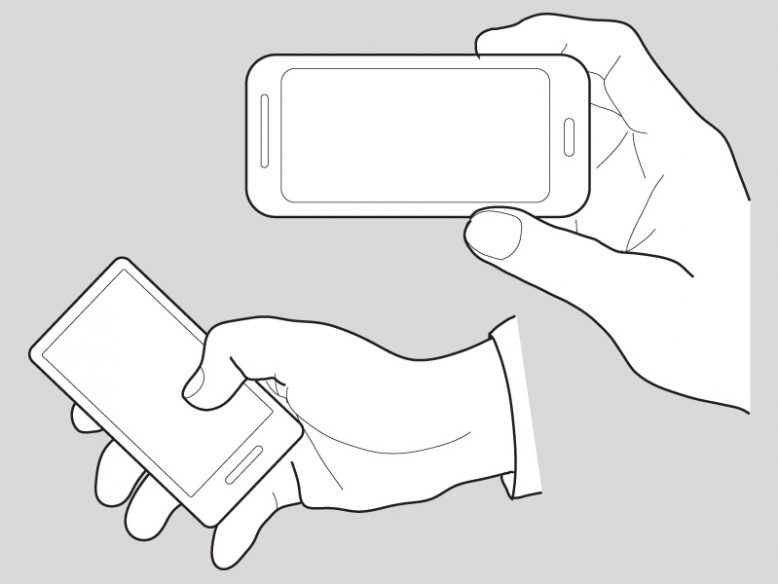 Hands Holding a Mobile Phone