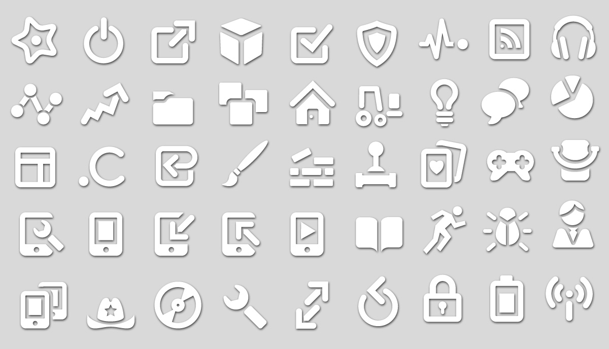 White Icon Set