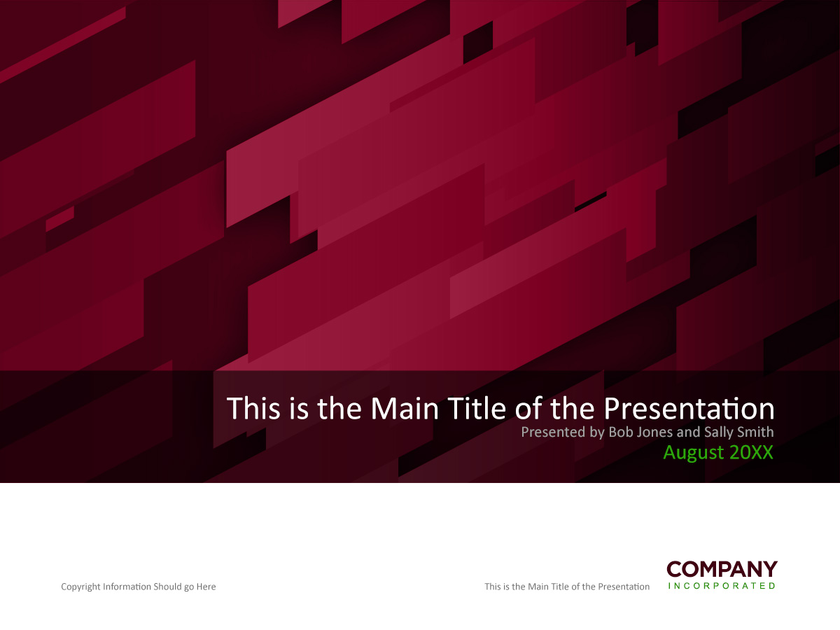 Red Angular PowerPoint Template Cover Page In Photoshop PSD Format - Presentation cover page template
