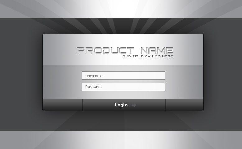 mobile login screen source file