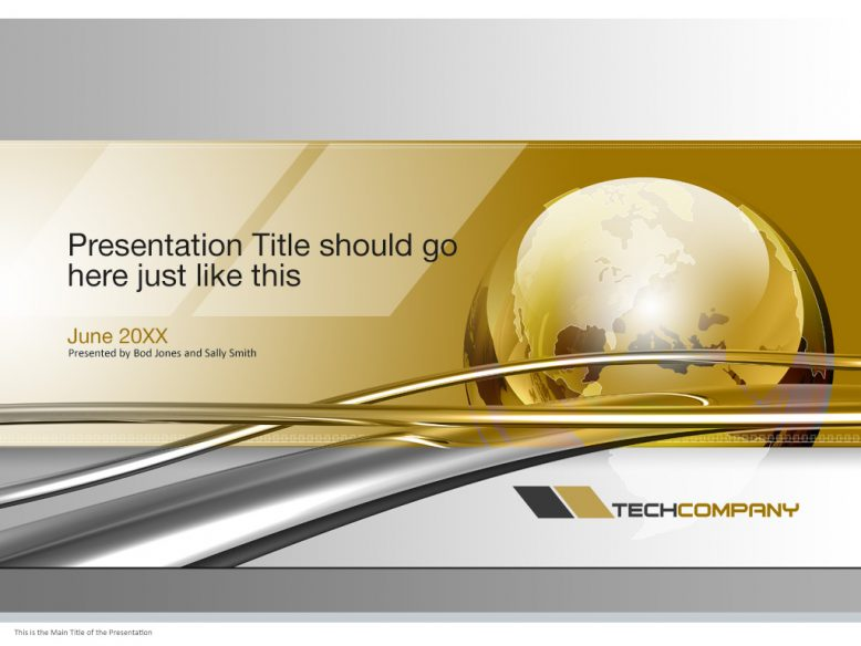 Presentation cover slide template