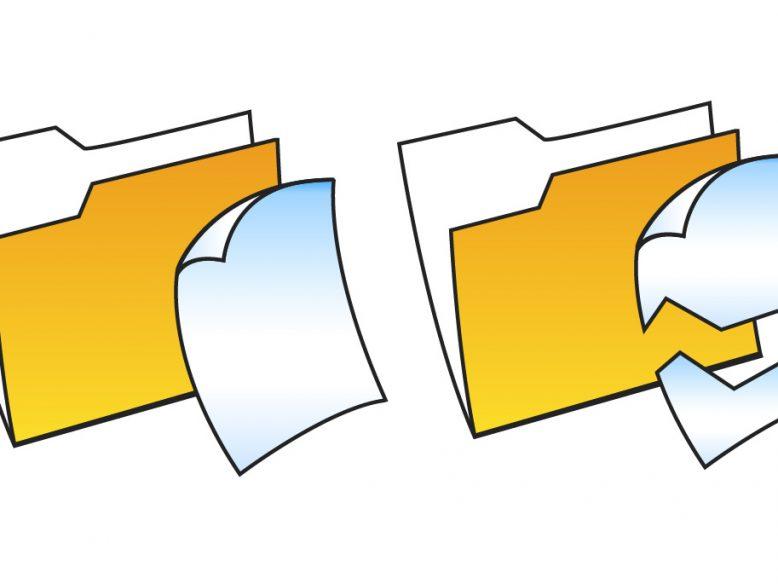 Vector file folder illustration