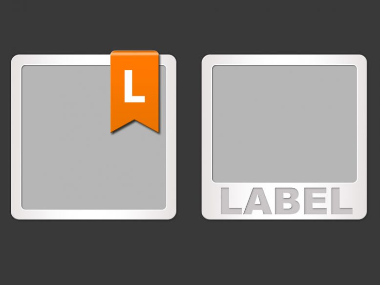 screenshot showting the two icon templates