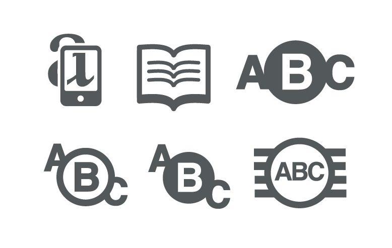education theme icon set