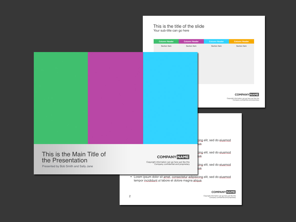 colorful keynote template
