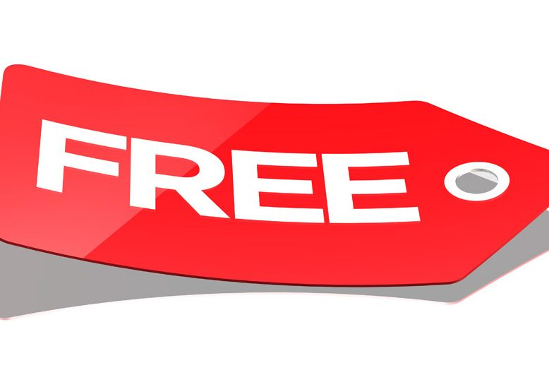 red FREE tag