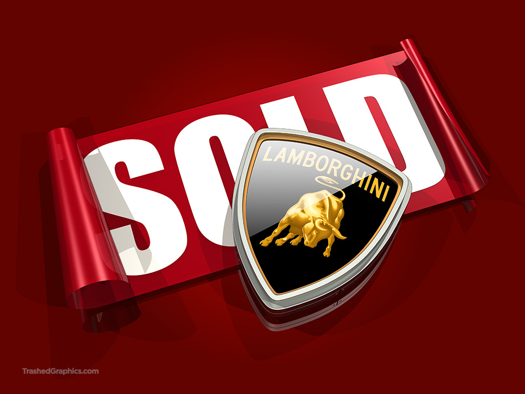 Lamborghini logo and SOLD sticker