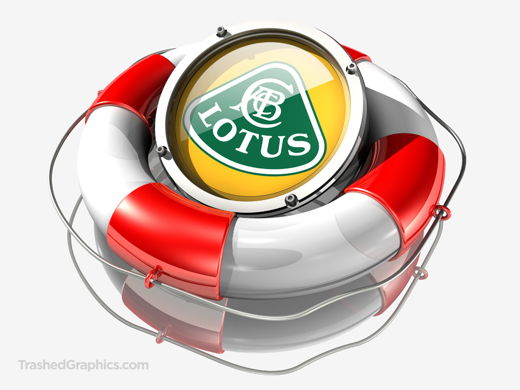 lotus logo in a lifesaver