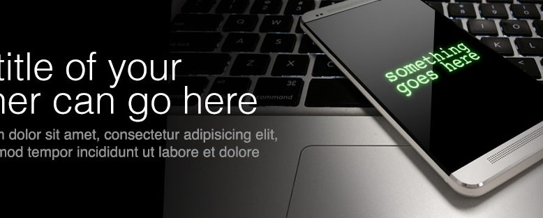 mobile device web banner