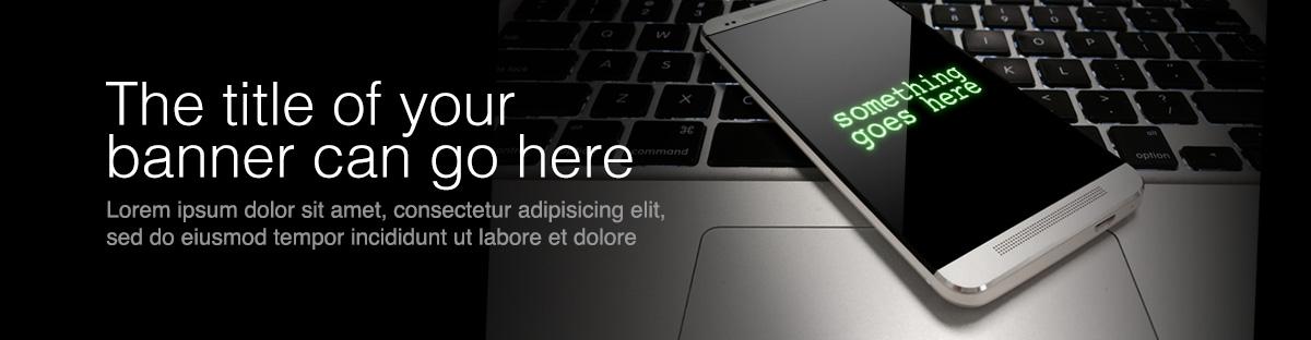 mobile device web banner idea