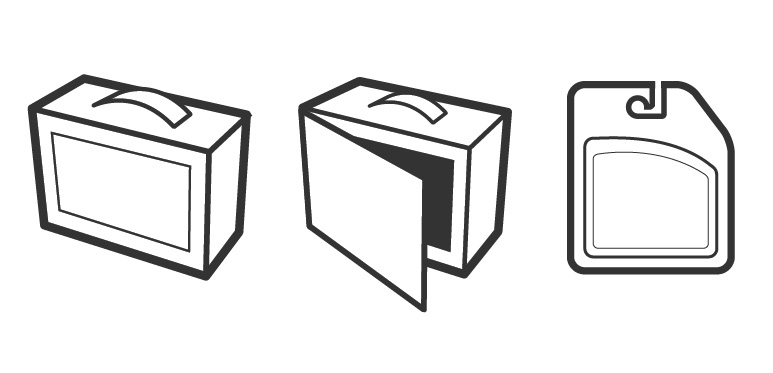 vector product packaging icons
