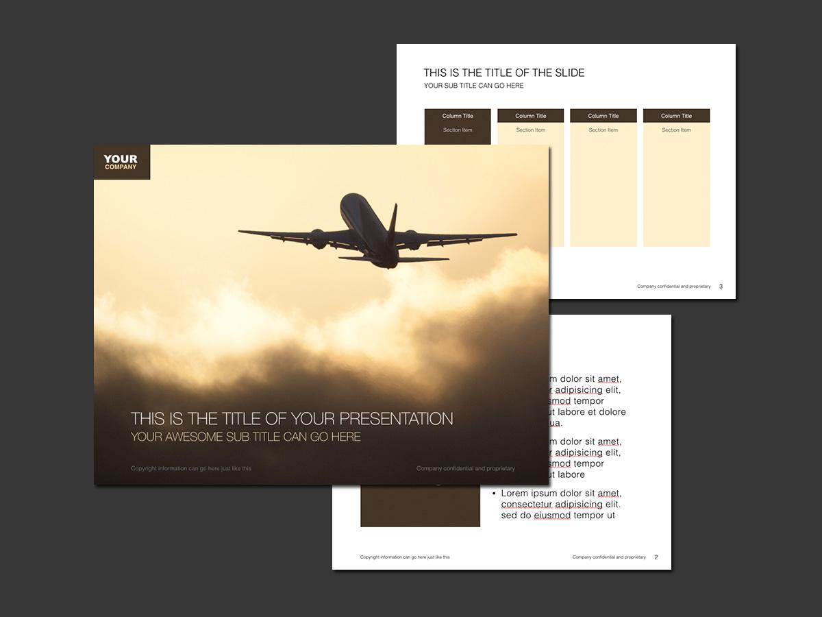 Commercial Aviation Keynote Presentation Template TrashedGraphics - Keynote deck templates