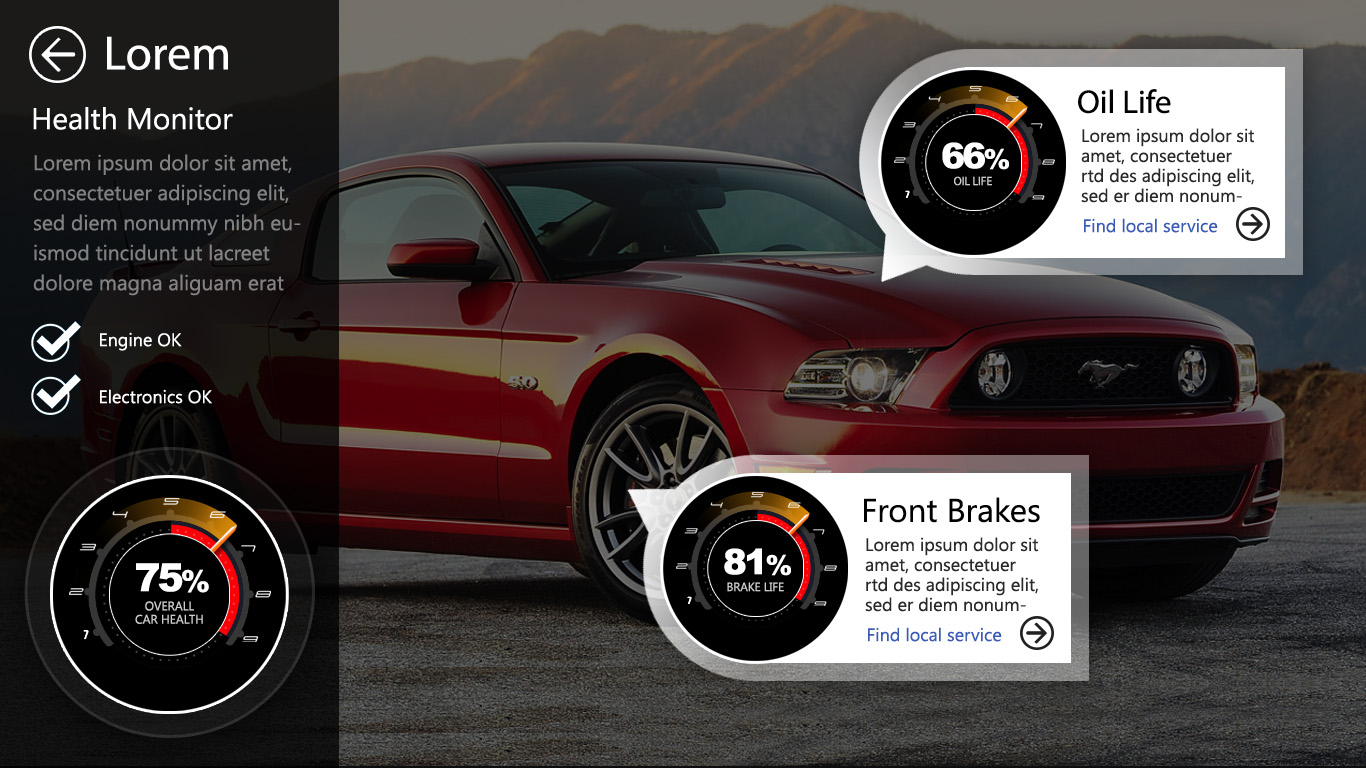 automotive ui elements