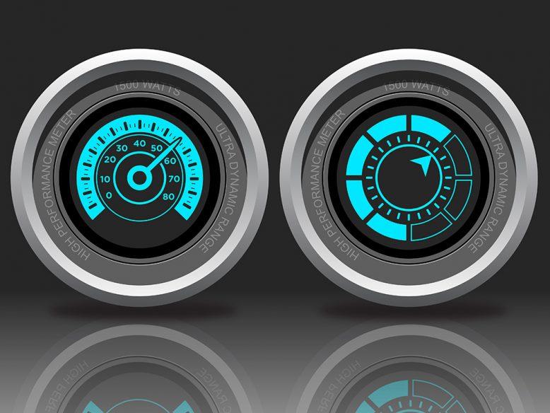 two generic meter gauges