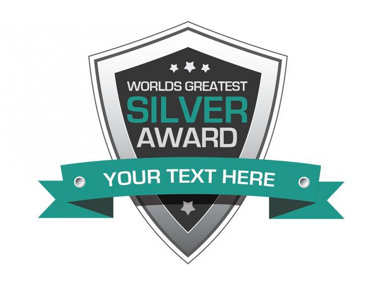 silver award badge