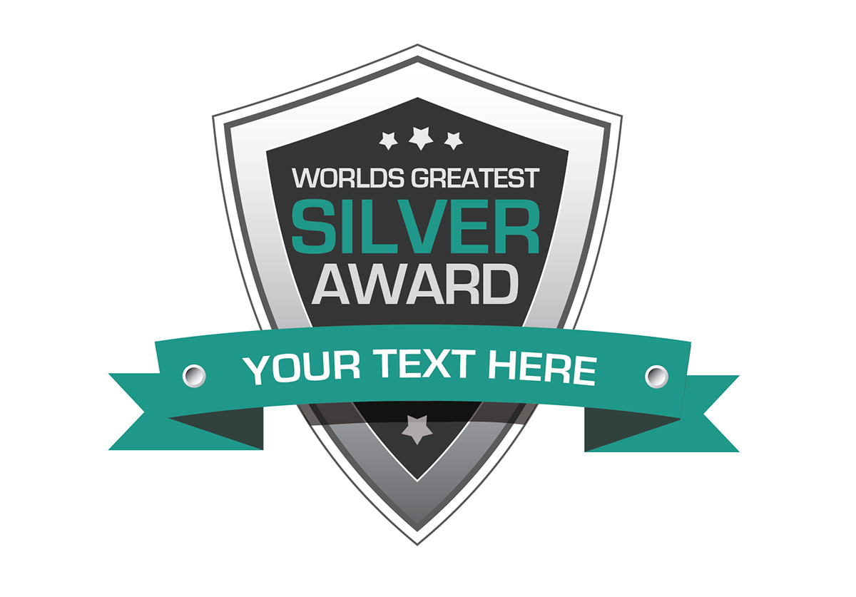silver award badge