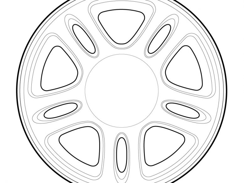 1996 ford mustang wheel drawing