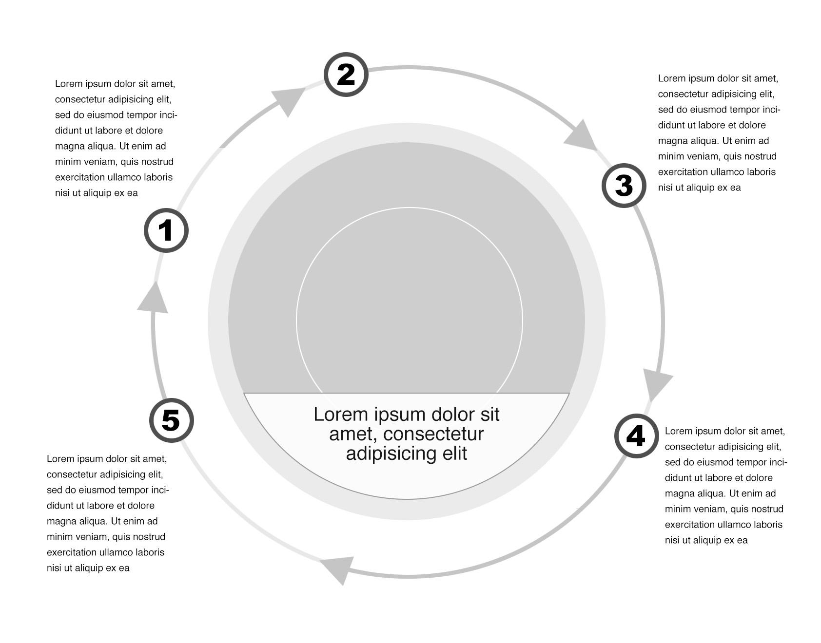 white infographic element