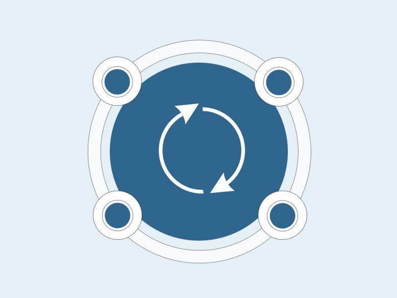 infographic circle element