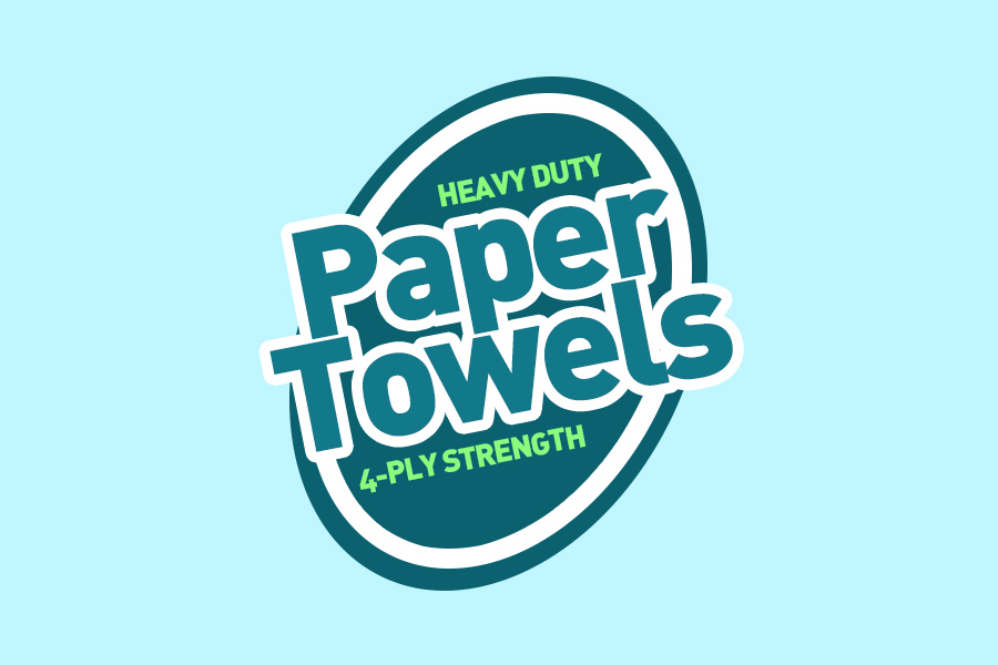 paper towel label design