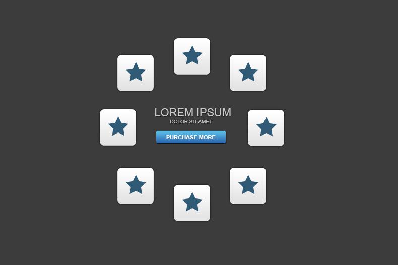 desktop UI radial menu