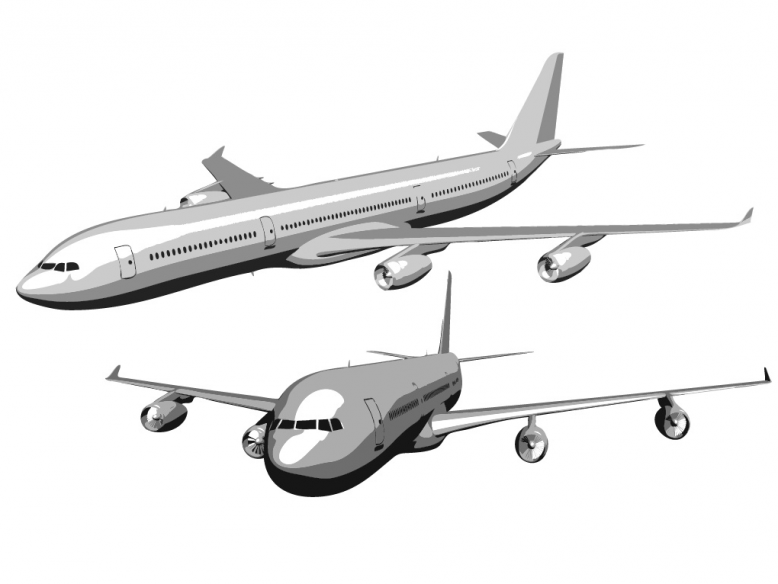 Airbus A340 vector