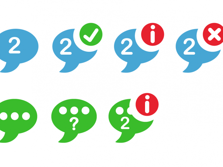 mobile chat and messaging icons