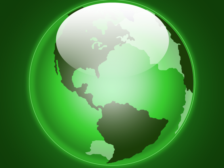 green glowing earth vector