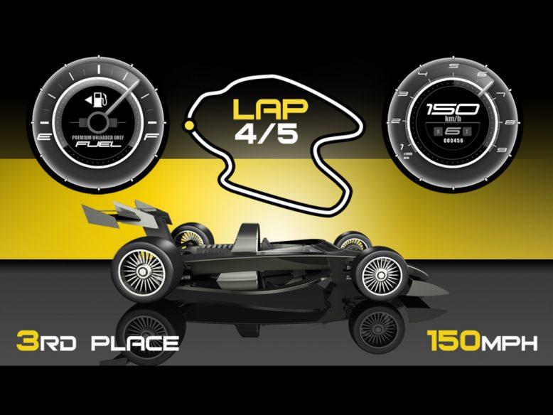 Simple car racing game UI