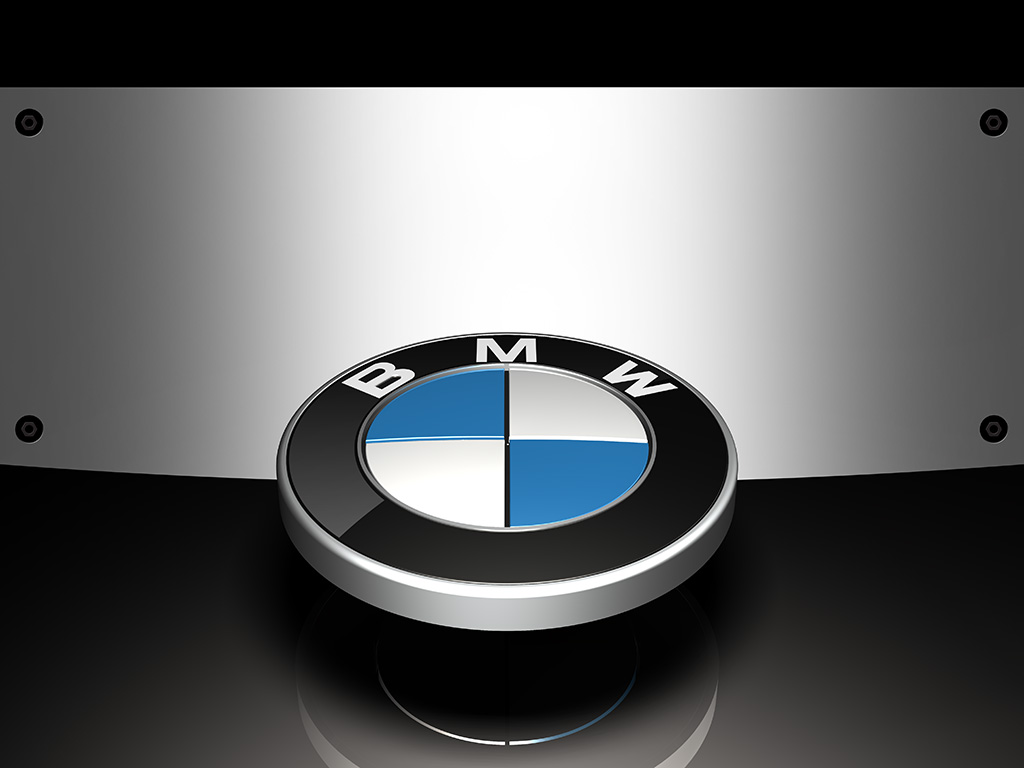 fully editable BMW logo rendering template