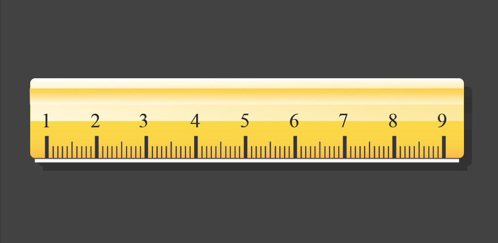 Vector ruler icon