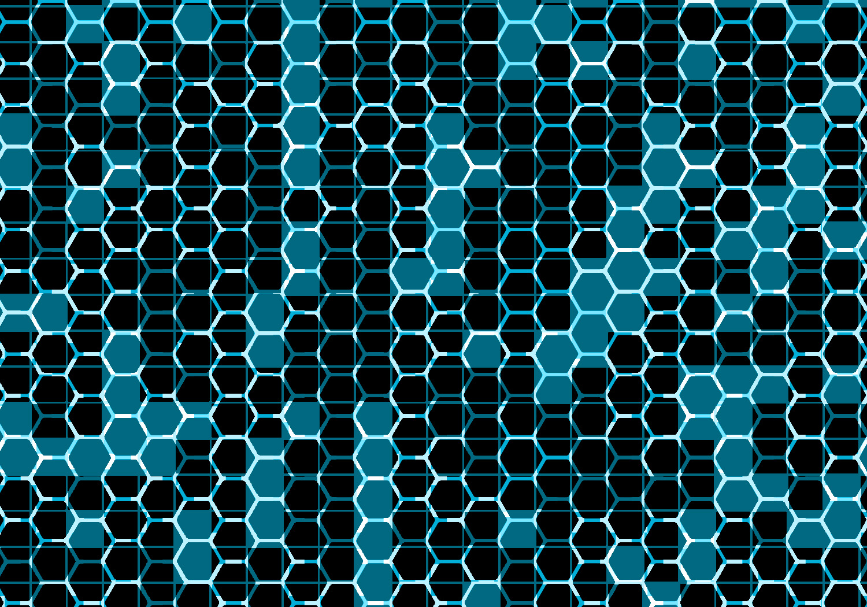 honeycomb grid pattern