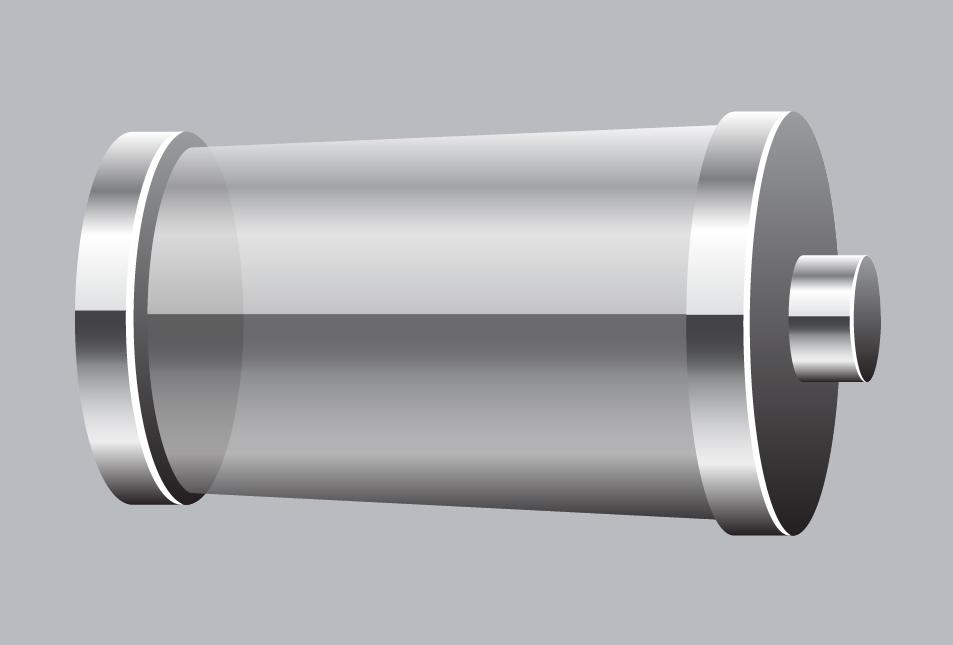 transparent empty battery