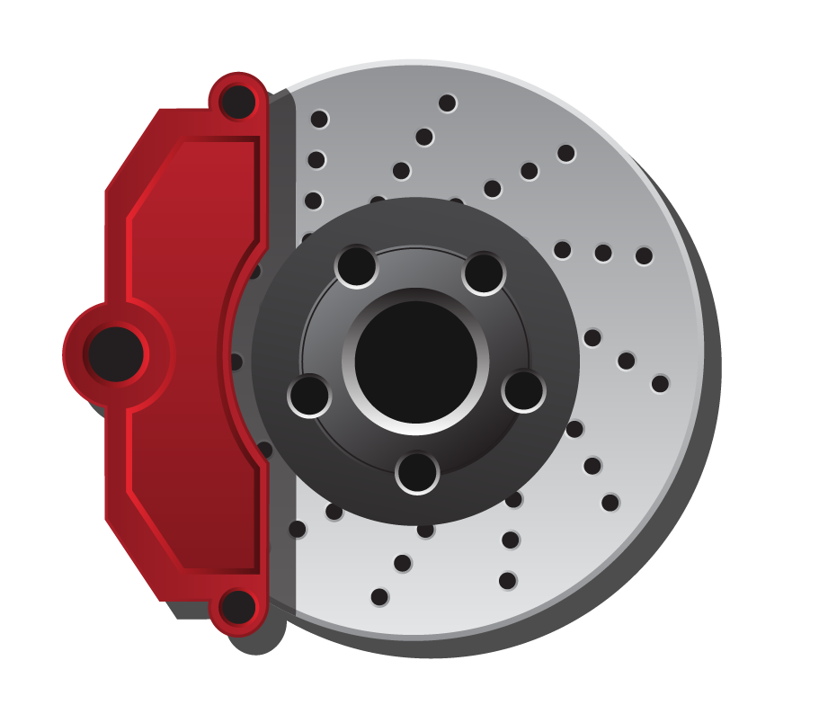 automotive disc brake illustration